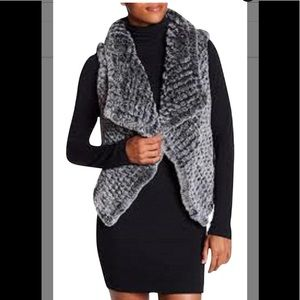 Bagatelle Trulee Knitted Faux Fur Open Front  Vest